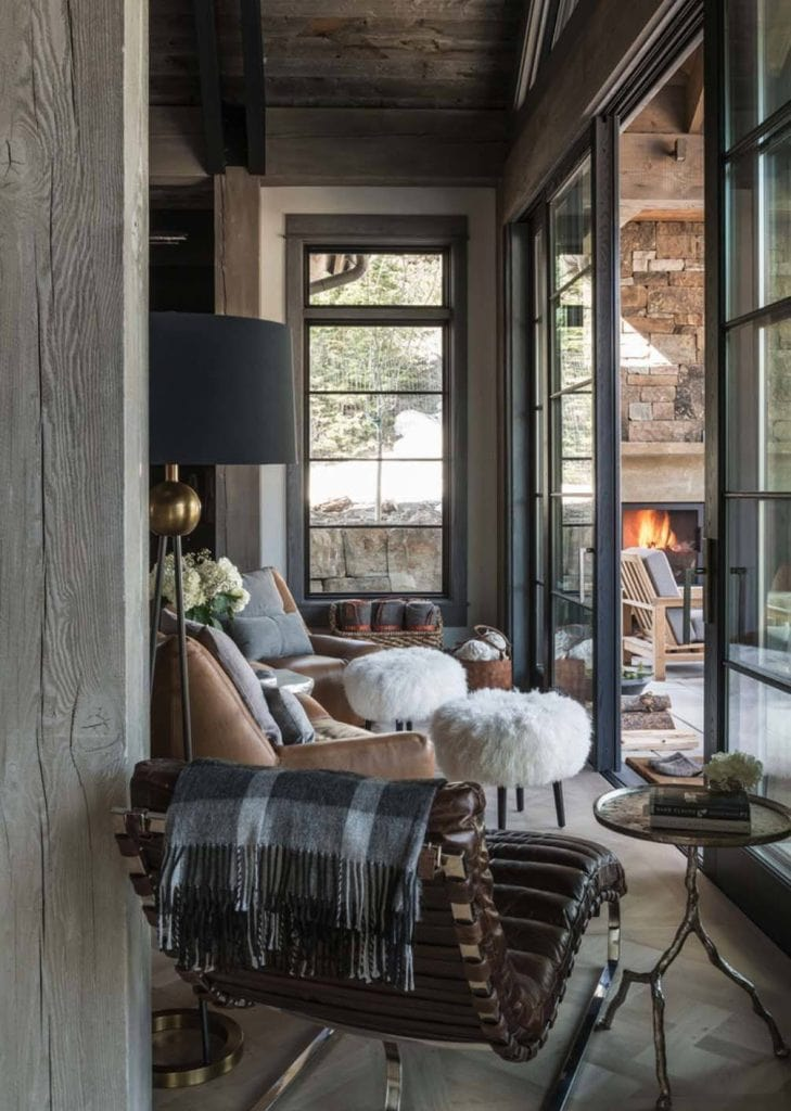 Rustic Ski Chalet via One Kindesign, Designer: Tracey Byrne, Design: Locati Architects, Photo: Audrey Hall