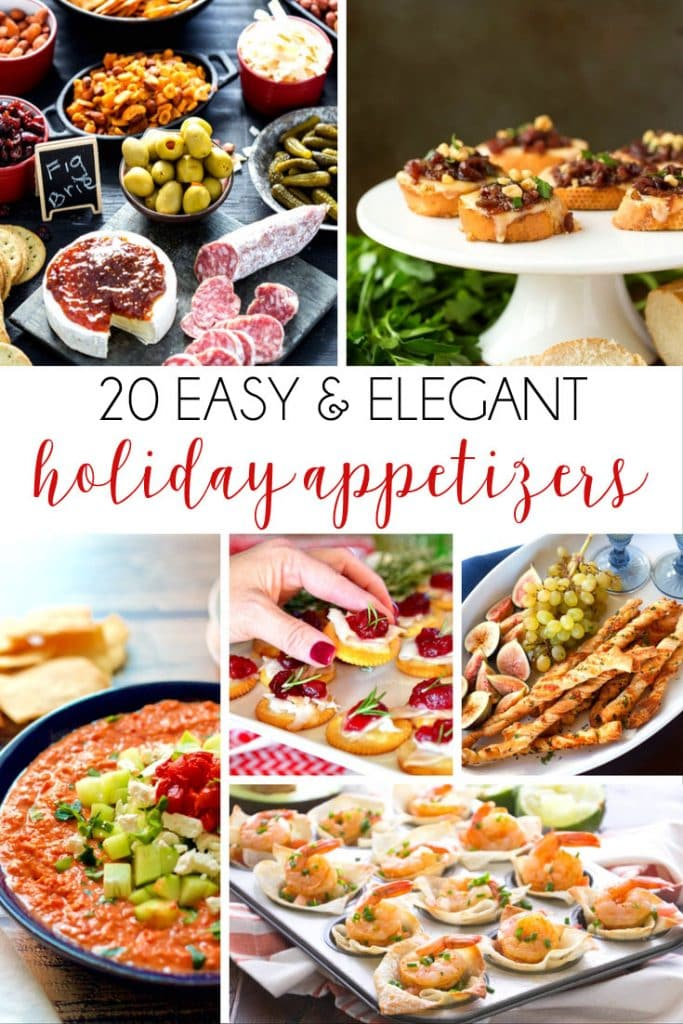 20 easy and elegant holiday appetizers poster.