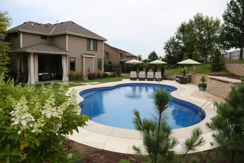 Four year house tour before after life on virginia for Pool design virginia