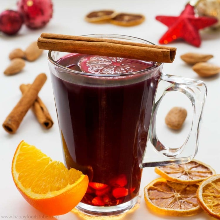 Mulled Wine from Happy Foods Tube - a delicious Christmas cocktail!