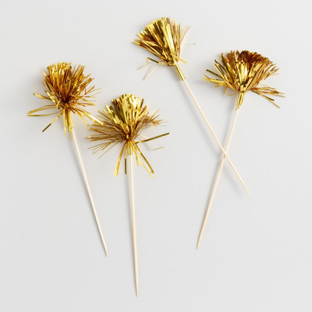 Festive Gold Drink Stirrers