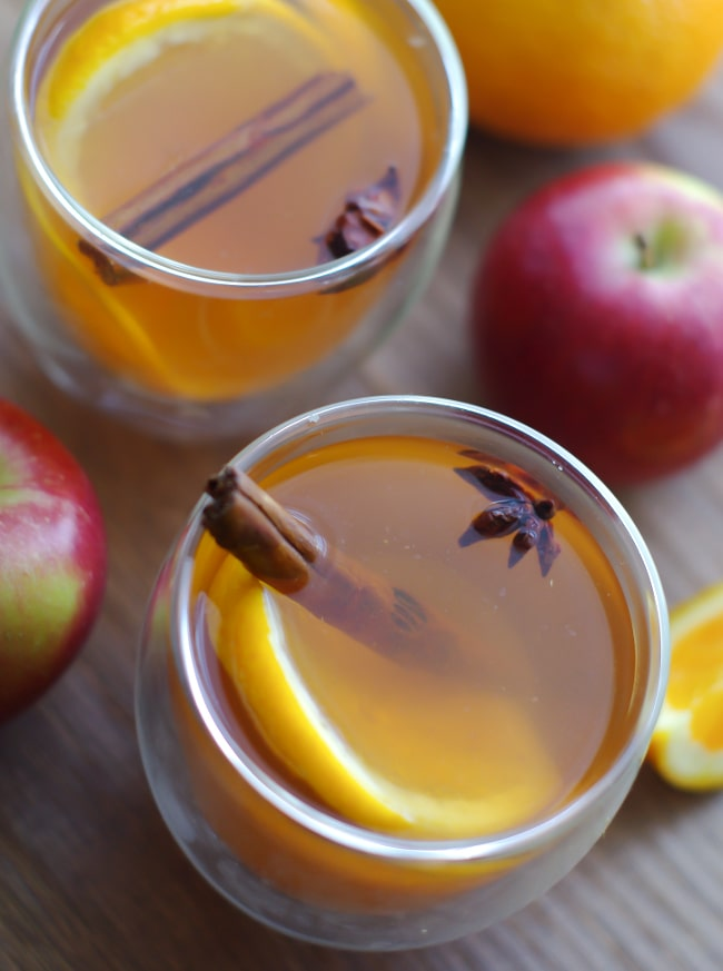 Spiced Mulled Cider from corianderqueen.com