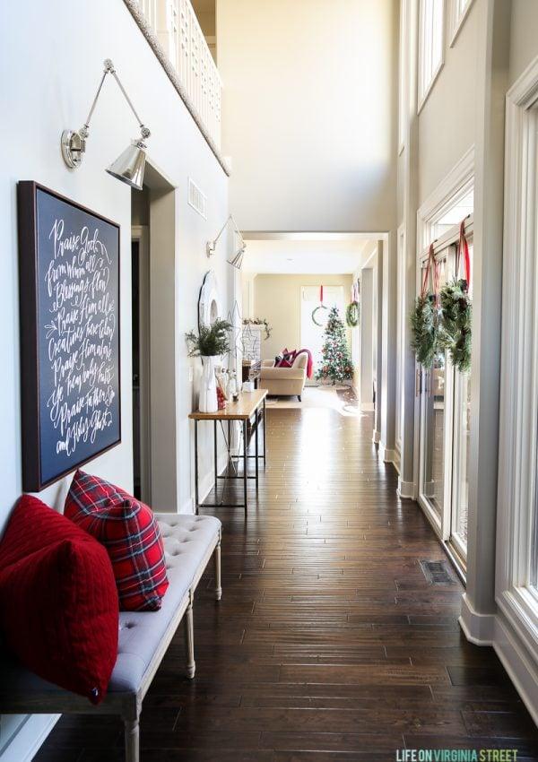 Christmas Home Tour: Entryway & Kitchen