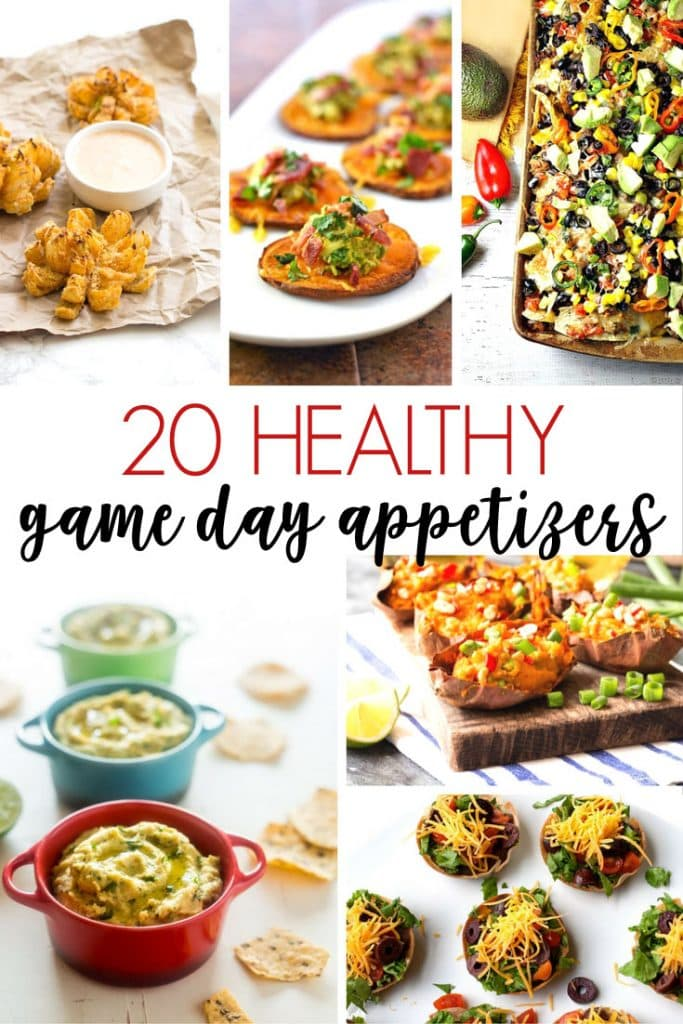 20 healthy game day appetizers perfect for your next party or the Super Bowl! Love the mix of vegetarian, vegan and Paleo recipes along with many other delicious snacks!
