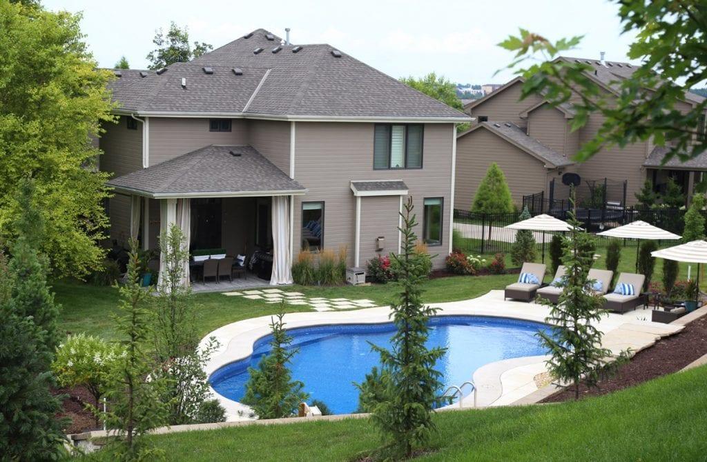 Backyard pool reveal