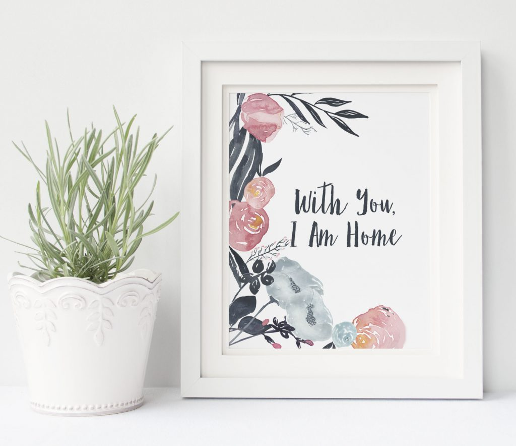 With You, I am Home - Life On Virginia Street Printable - Plus nine other FREE Valentine's Day printables!