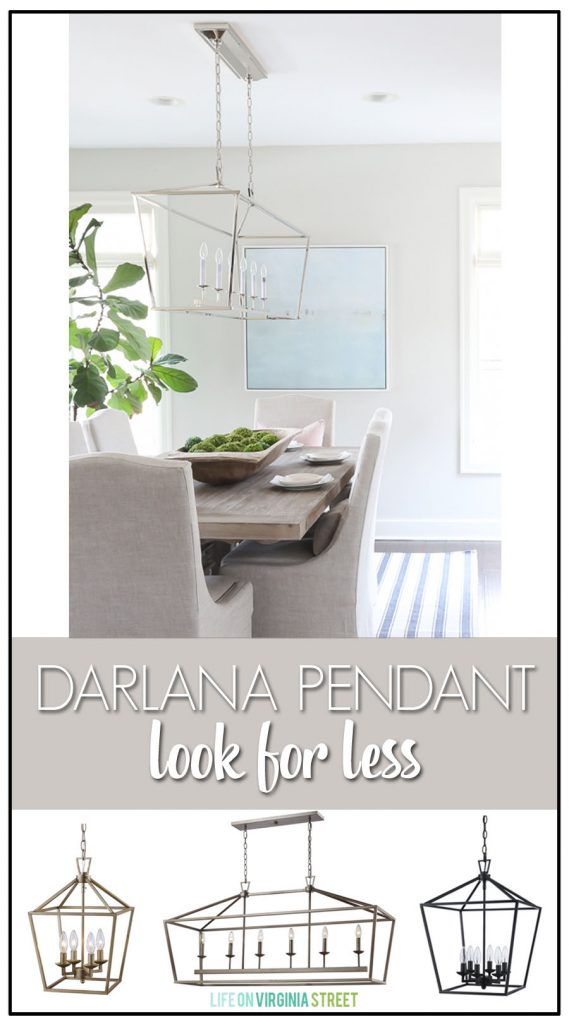 Excellent resource for the Darlana Pendant look for less. This is the best knock-off I've seen for both the Darlana Linear Pendant and the Darlana Lanterns!