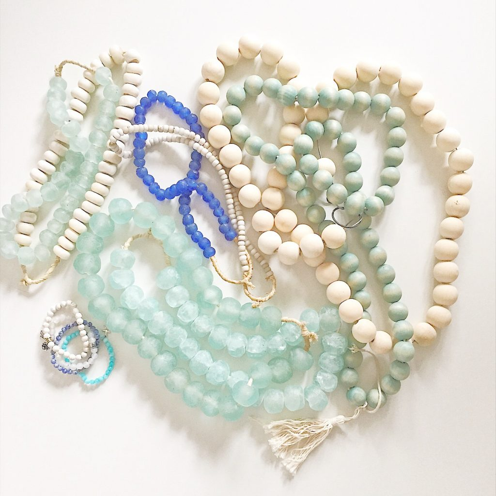Glass and wood beads - so beautiful in home decor!