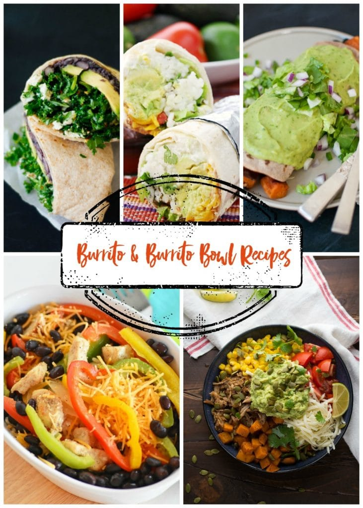 15 Burrito and Burrito Bowl Recipes. So many great options for Cinco de Mayo or any time you are craving some Mexican food!