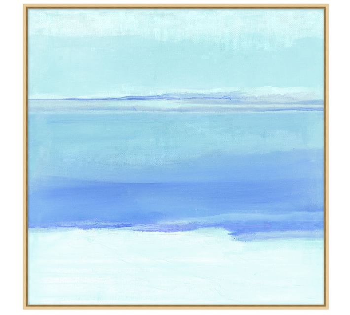 It doesn't get any more coastal than this clear skies canvas. Add the ocean to any room!