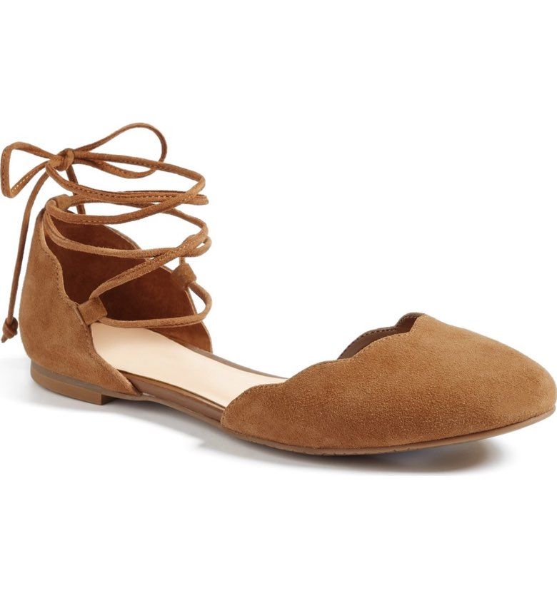 These suede flats are perfect for the boardwalk!