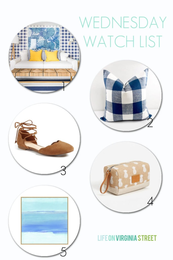 Wednesday Watch List: Coastal style inspiration on this great list of finds!