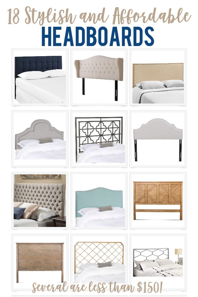 A collection of 18 stylish and affordable headboards. A great way to get a designer look for a cheap price point. Linen headboard, metal headboard, wood headboard, tufted headboard.