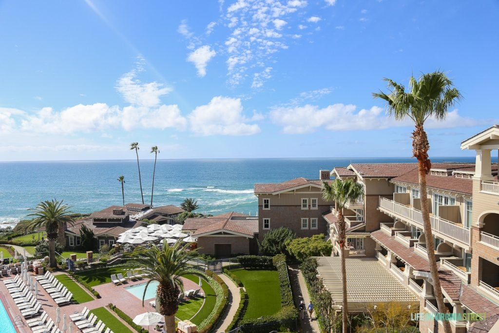This is the view of the ocean from our hotel at the Montage in Laguna Beach.