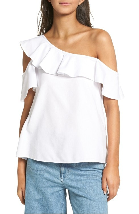 One-Shoulder Cotton Top