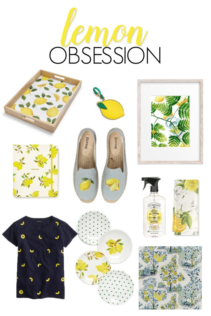A collection of summer's hottest fruit - the lemon! Includes home decor, fashion, artwork, and more all centered around the citrus of the season! Even more lemon obsession ideas in the full blog post.