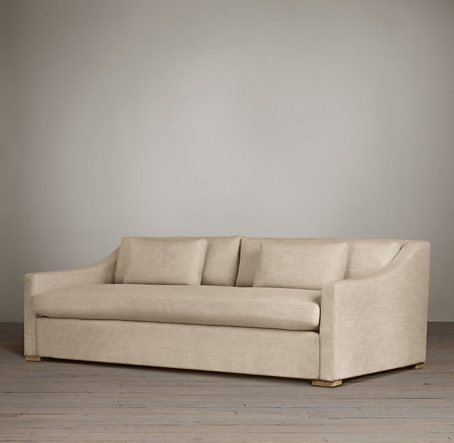 White and neutral sofas life on virginia street for Sofa with only one arm
