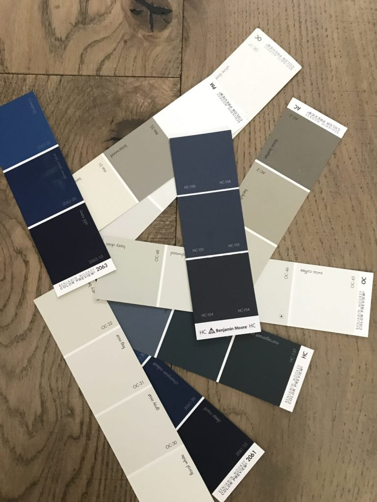 Benjamin Moore White and Blue Paint Colors