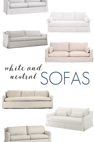 White and Neutral Sofas