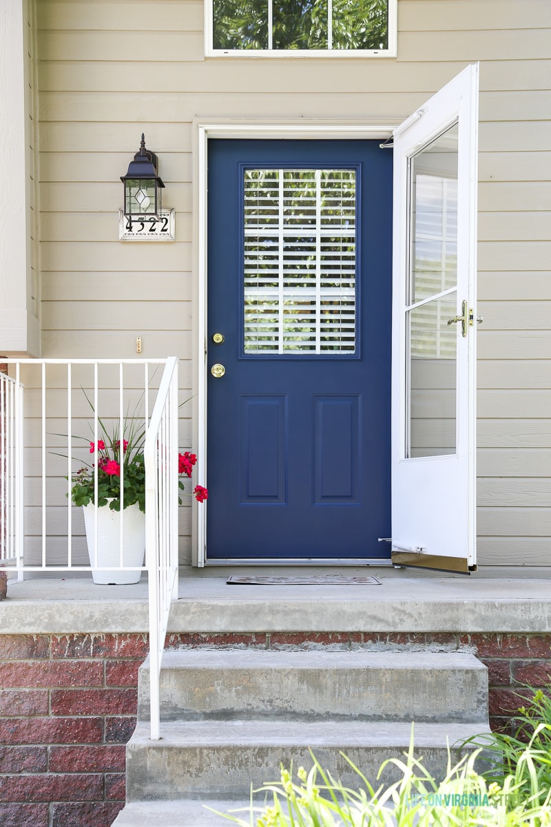 Adding curb appeal to the rental house life on virginia Curb appeal doors