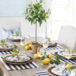A Summer Lemon Tablescape