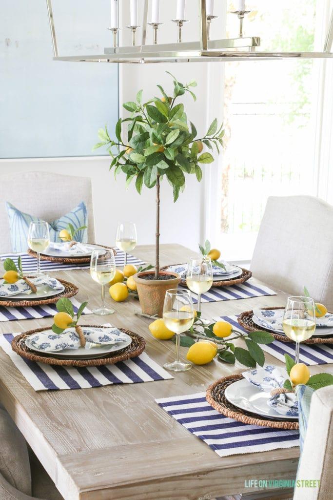 A Summer Lemon Tablescape Life On Virginia Street