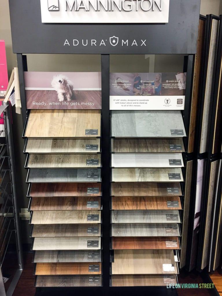 Adura Max Mannington flooring options.
