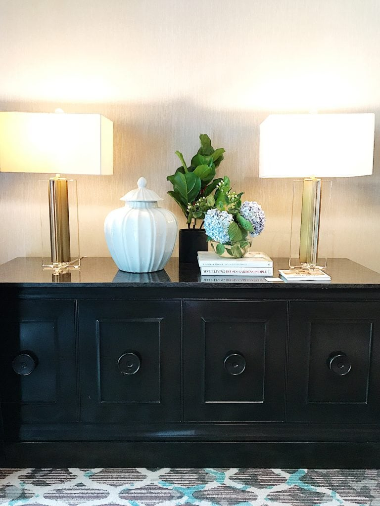 Gorgeous sideboard design inspiration at the Haven conference.