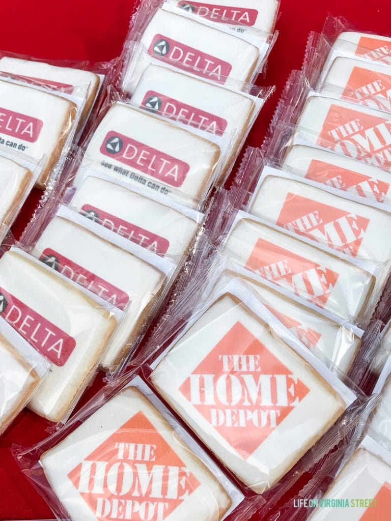Using branded sugar cookies to advertise is a delicious idea!