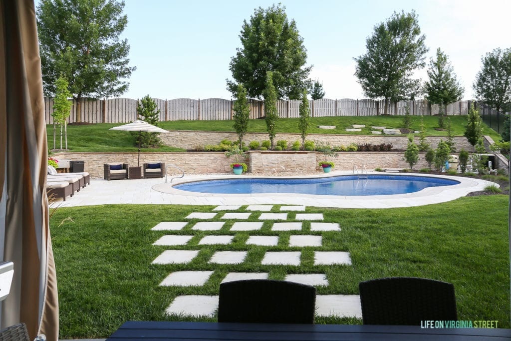This is my honest backyard pool review, where I share why I love our backyard pool and what I would change if I could.