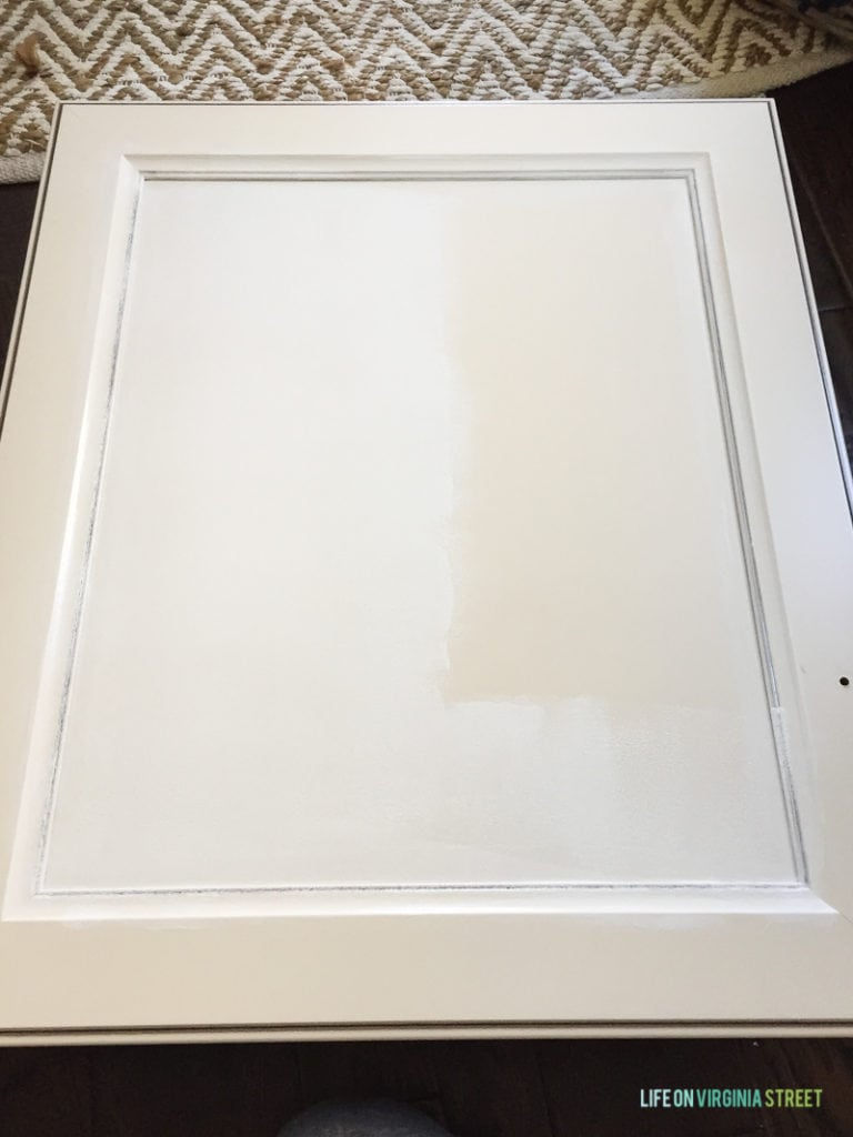 The doors after a light sanding