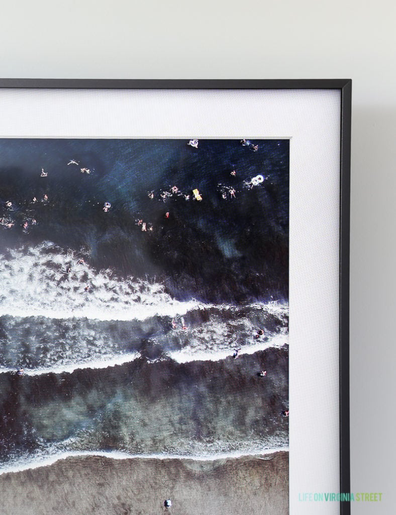 """The Frame from Samsung is the perfect way to get rid of the """"black box"""" TVs. It looks like artwork and mounts flush to your walls! Such a genius idea! #ad"""