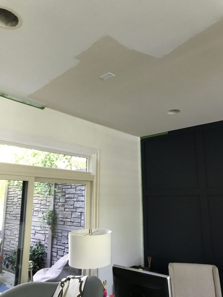 Update to the ceiling with Valspar Ceiling Paint right out of the can.