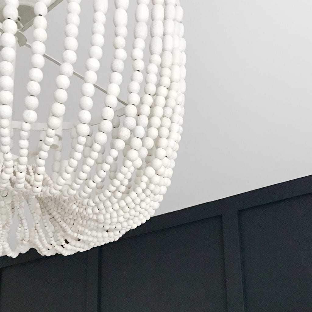 White Bead Chandelier