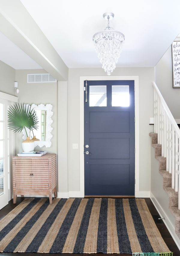 A Simple Entryway Update: Painted Interior Door Makeover