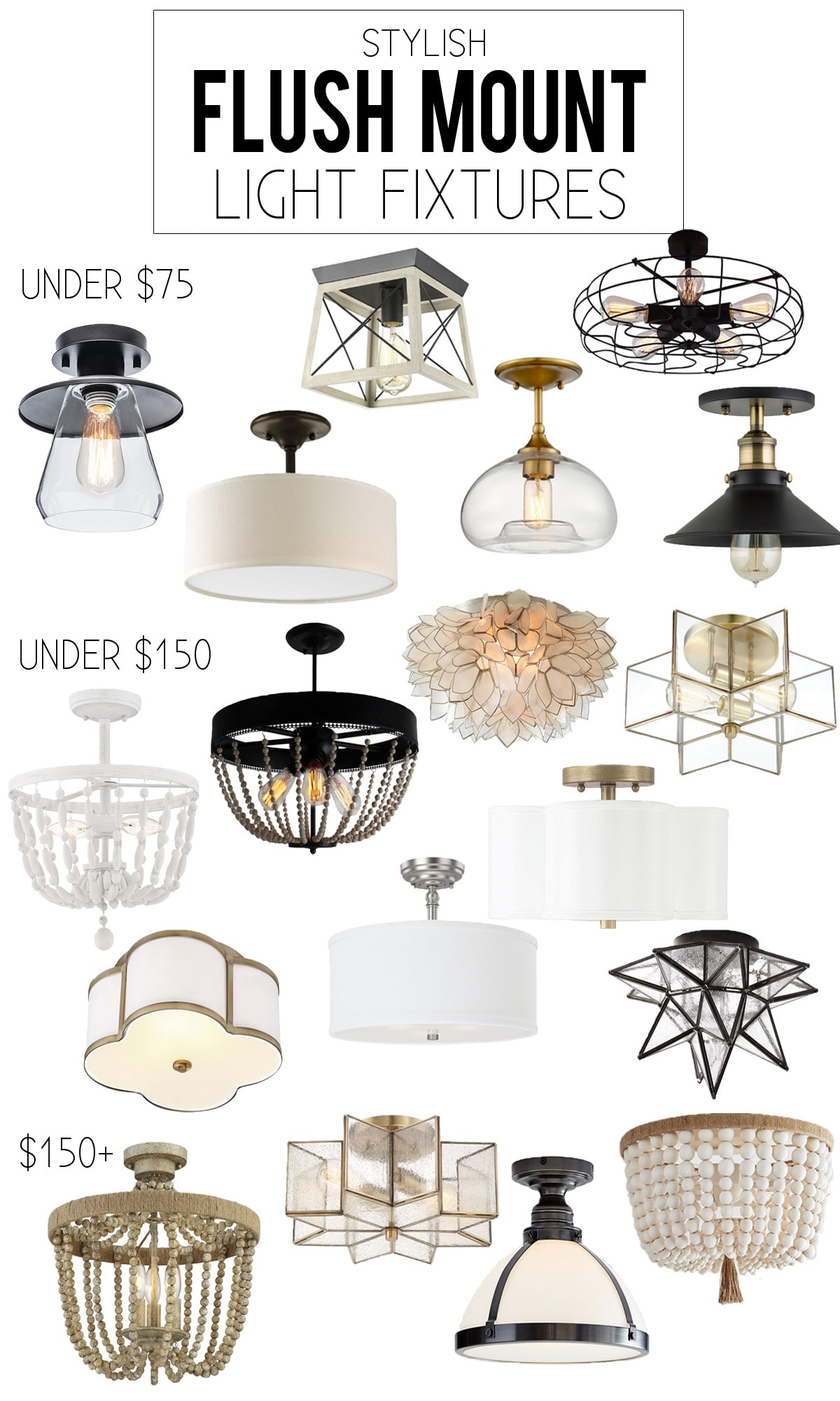 Stylish Collection Of Flush Mount Light Fixtures Life On Virginia Street