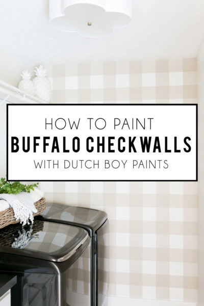 How To Paint a Buffalo Check Wall