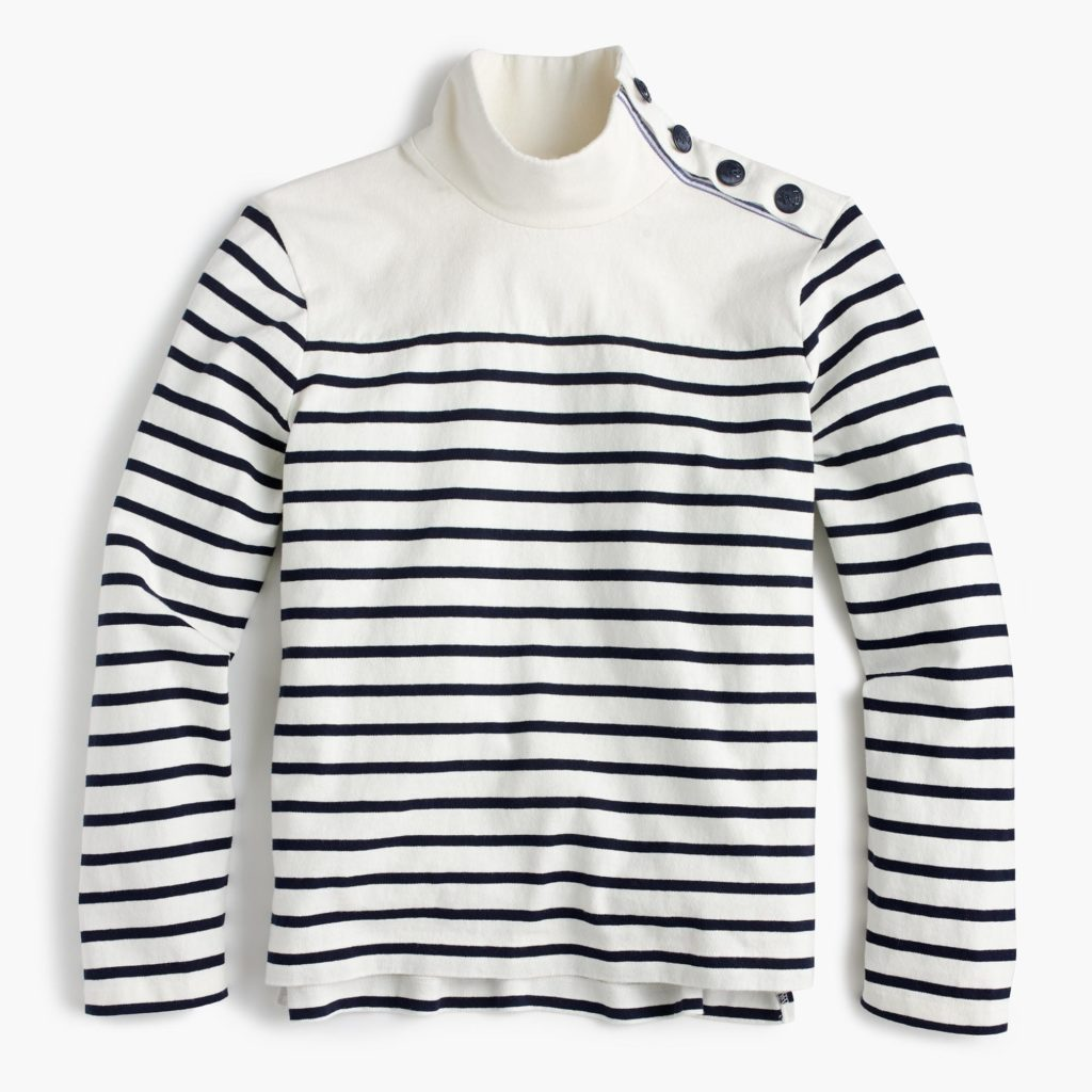 Striped Turtleneck with buttons