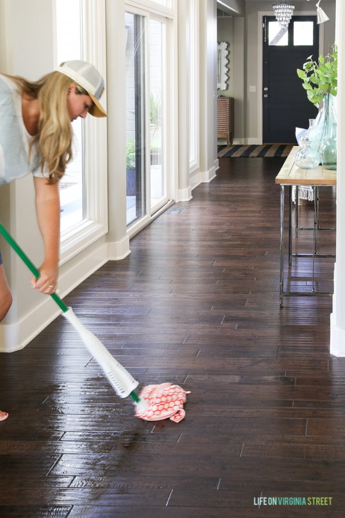 How To Clean Hardwood Floors - me and my favorite mop!