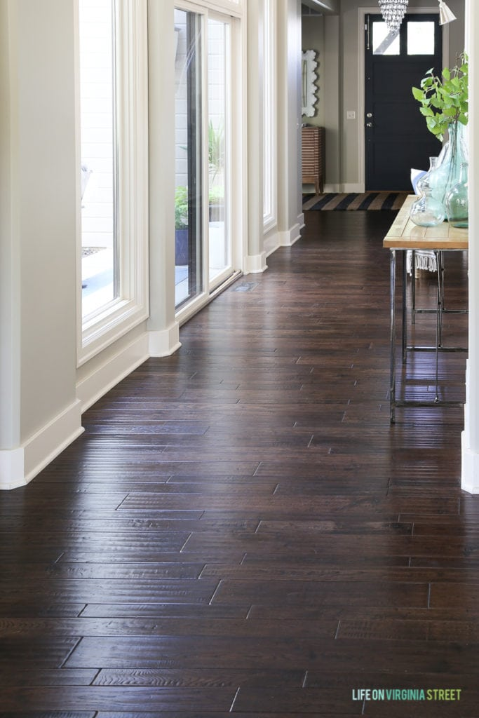 How To Clean Hardwood Floors - before when they are still dirty.