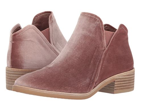 I love these blush velvet booties!