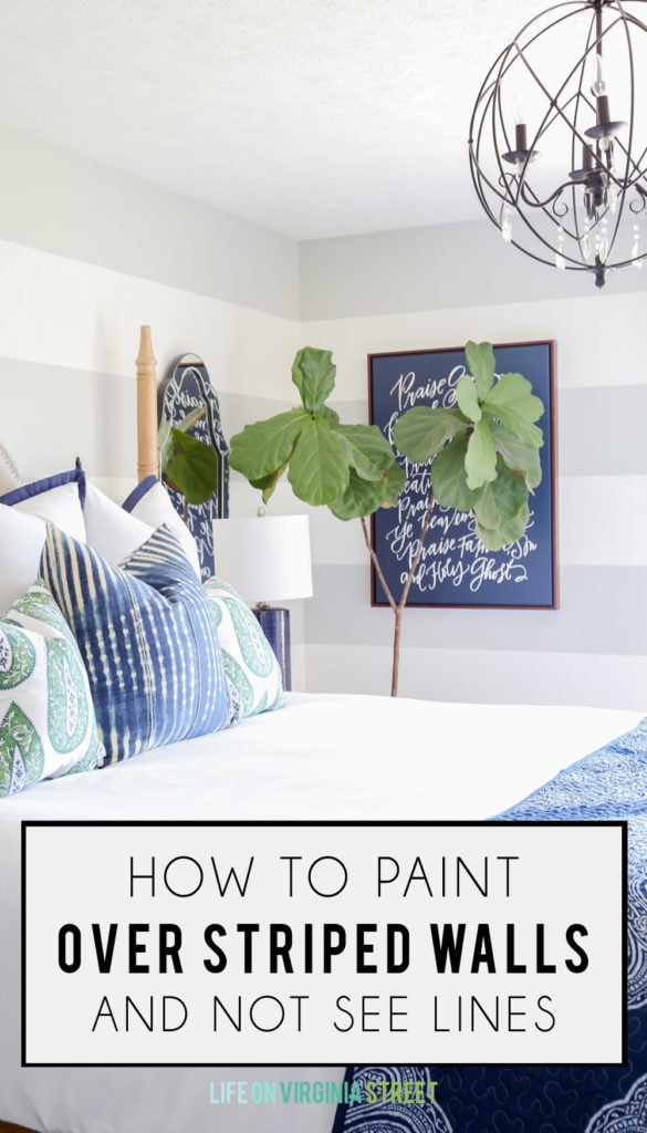 How to paint over striped walls and not see lines poster.