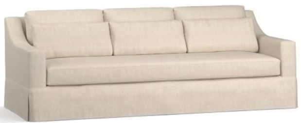A white couch.