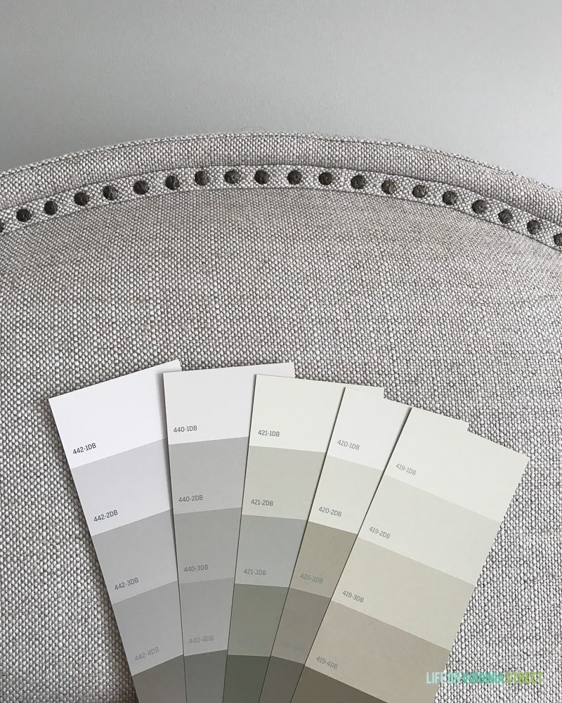 Color swatches in subtle gray colors.
