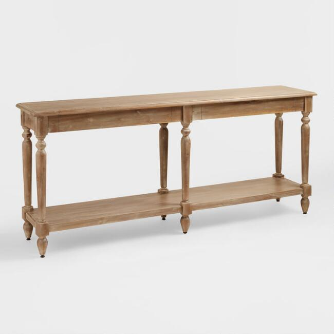 I'm obsessed with this gorgeous console table from World Market!