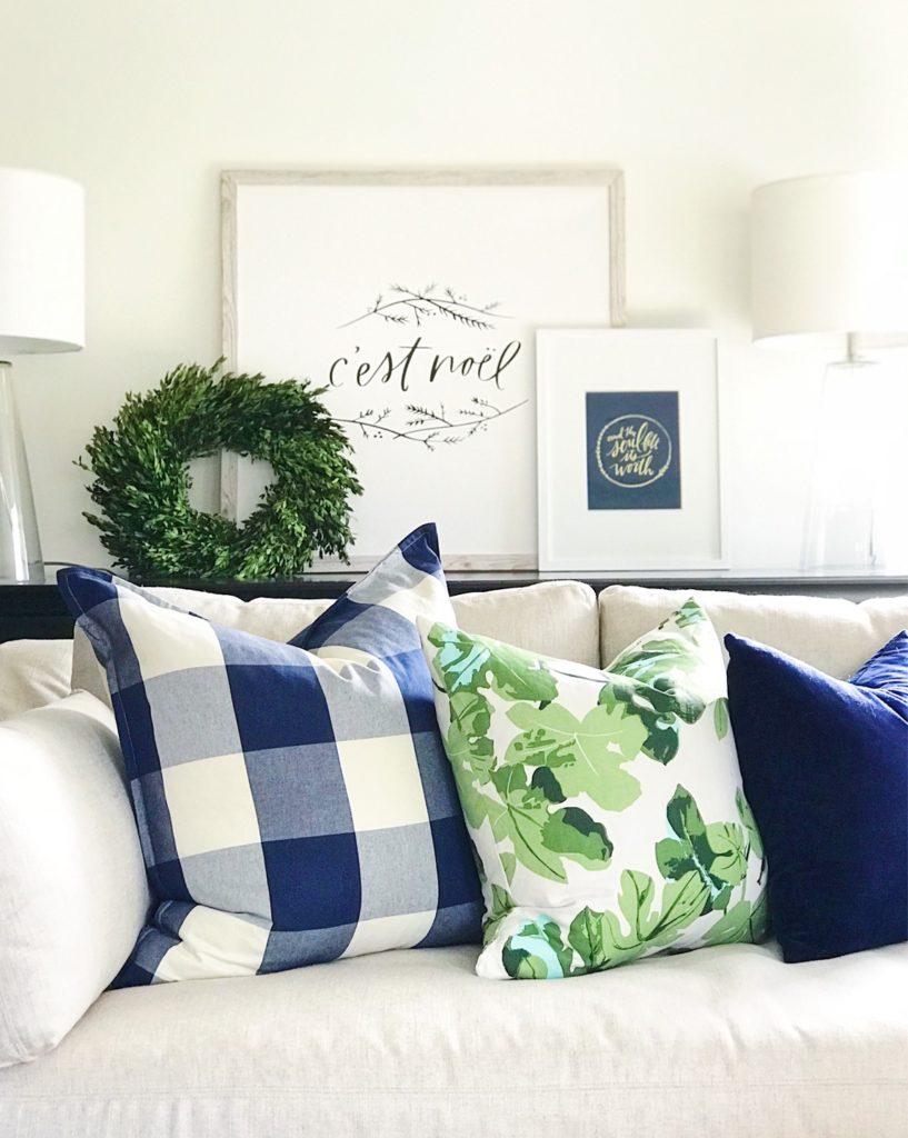 pillows and art