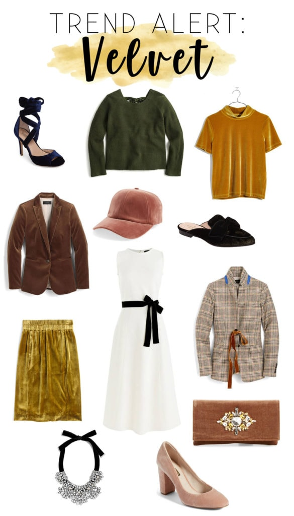 Gorgeous velvet clothing and accessory options from Nordstrom that are all perfect for the fall and winter months! A great way to elevate your holiday fashion! #sponsored #velvet #fashion