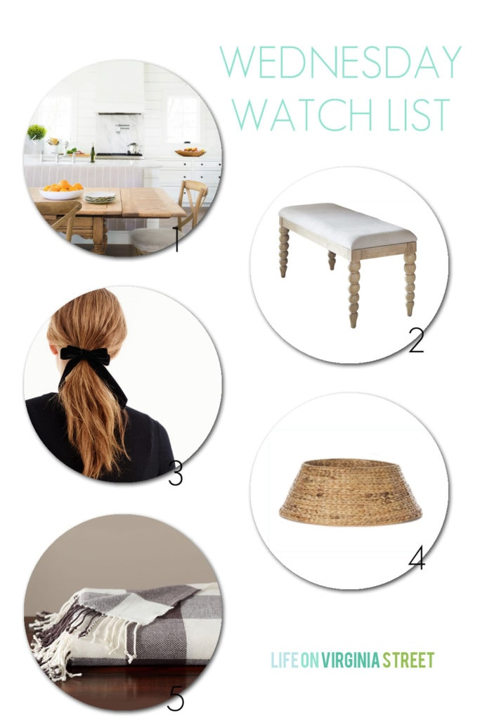 Wednesday Watchlist - My favorite 5 items for the week! Including: modern kitchen with shiplap walls and woven Christmas tree color!