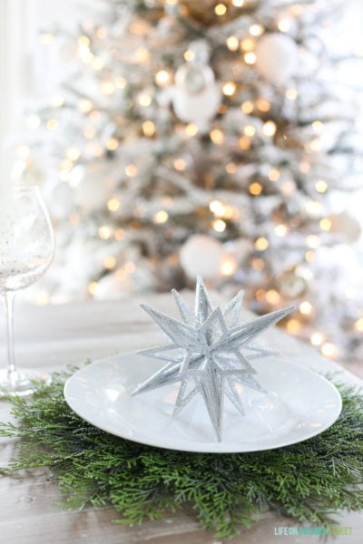 Glam Winter Wonderland Tablescape
