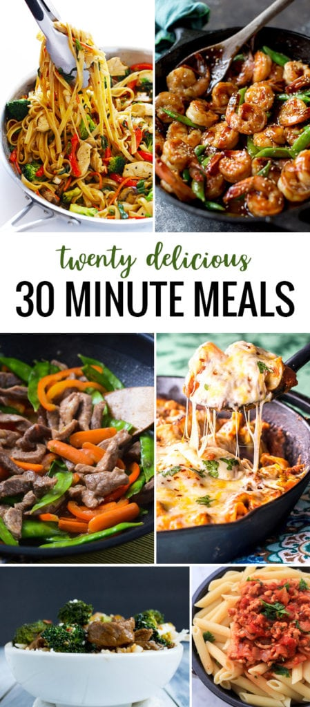 A well-rounded collection of twenty delicious 30 minute meals that you'll want to add to your dinner routine for the new year!